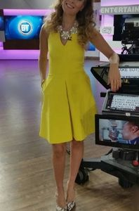 Banana Republic Cross Back Fit & Flare Dress